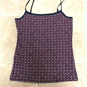 Ann Taylor Red, Navy and White tank Top NWOT